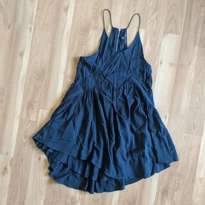 Romeo and Juliet Navy Spaghetti Starp Dress